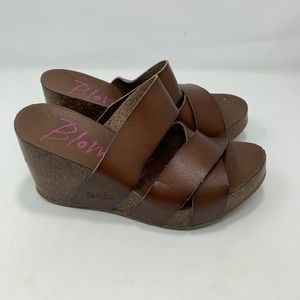 Blowfish Womens Brown Sandals Size 6